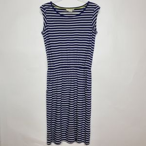 Boden blue and white striped dress size 8